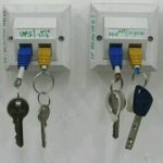 Epic use of Ethernet Wall Sockets as Key Holder
