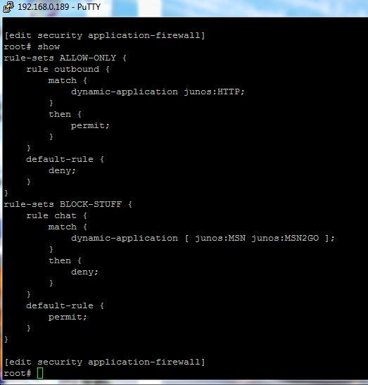 Welcome to the Dark Side - Configuring Juniper SRX AppFW