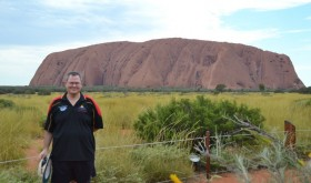 Cheesy Tourist Photo at Uluru