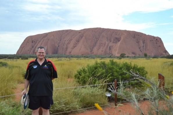 Cheesy Tourist Photo at Uluru