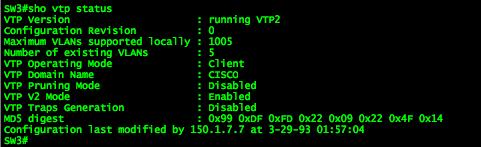 VTP v2 Transparent Mode: Mismatched Domain Names Cause