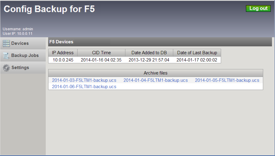Configuration Backups for F5 - Packet Pushers