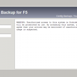 Configuration Backups for F5