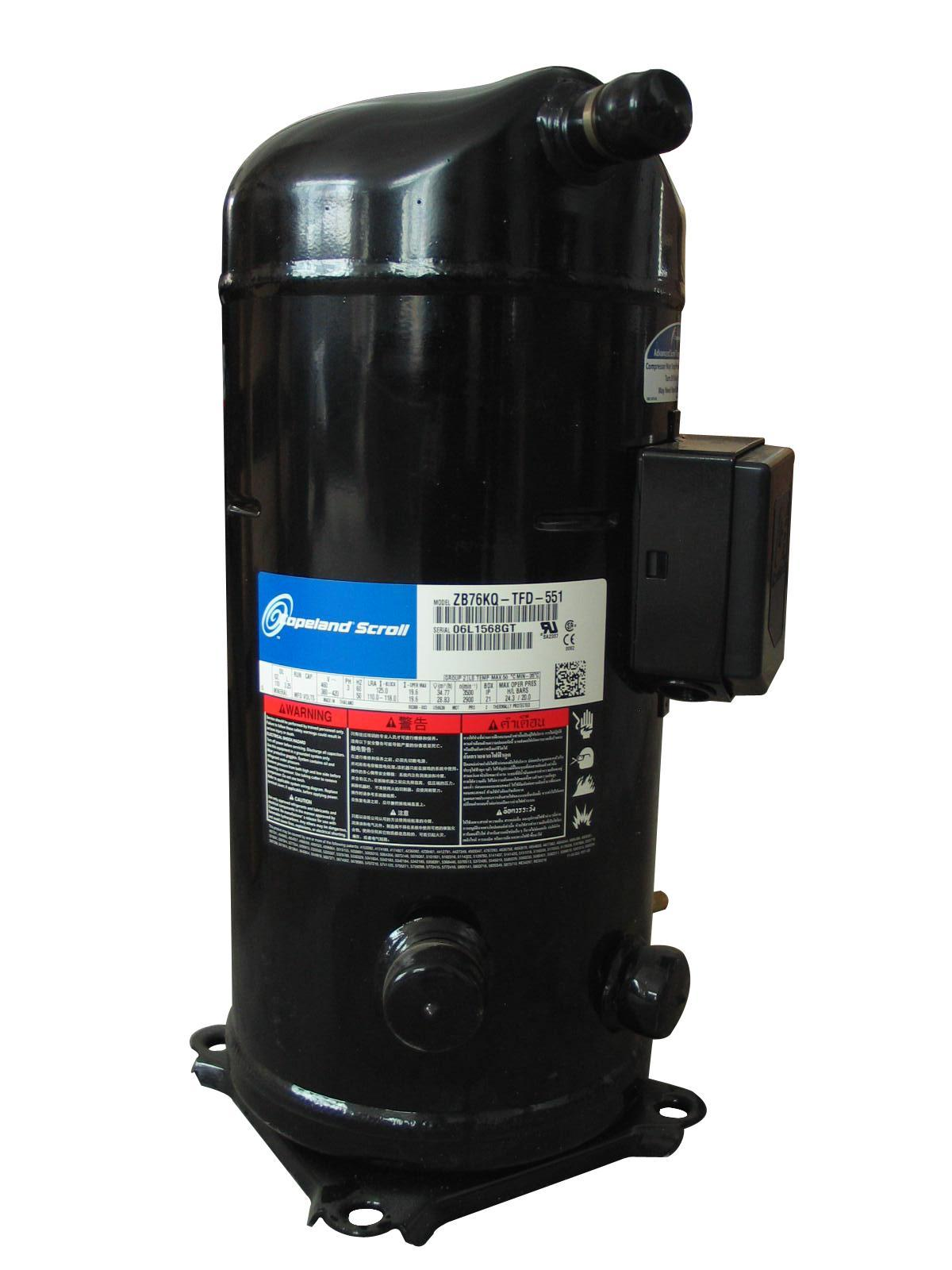 A compressor from a refrigeration/cooling system