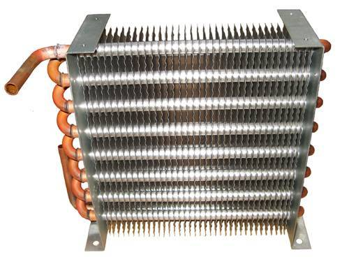 An evaporator from a refrigeration/cooling system