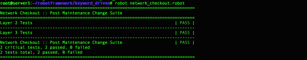 Exploring Robot Framework For Automated Testing - Packet Pushers
